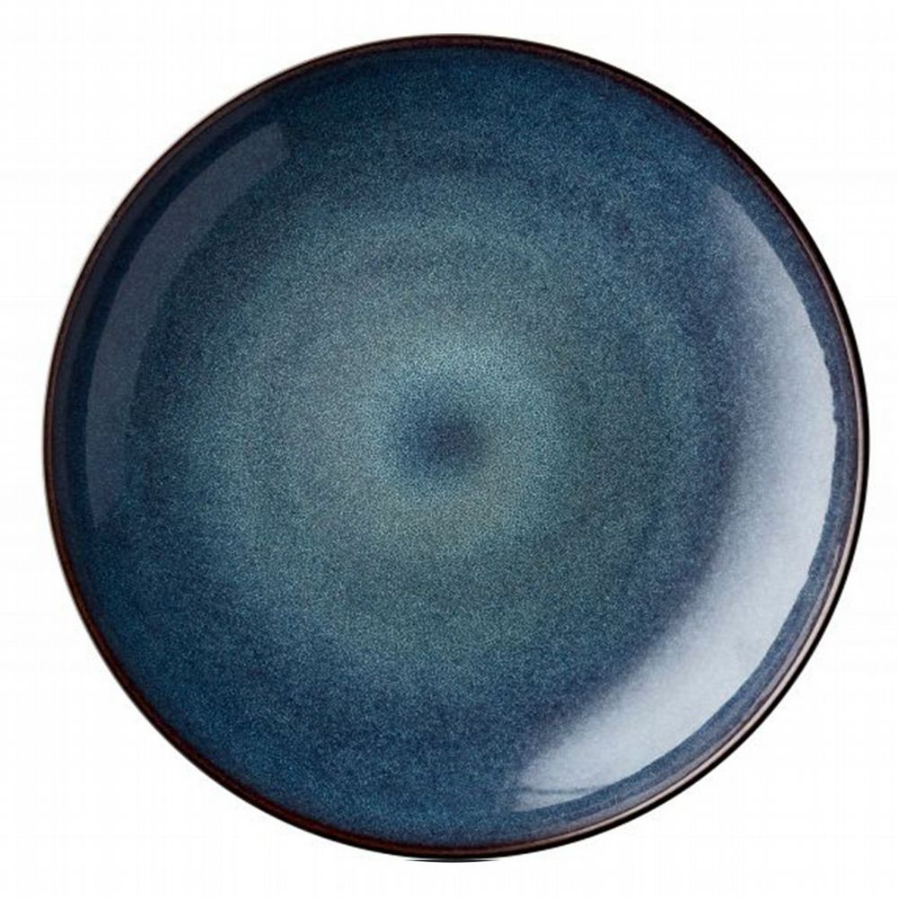 Stoneware - Giant Serving Dish 40 cm - Dark Blue & Black